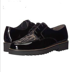Paul Green Bilbao Oxford Black Patent Shoes